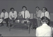 Announcement of independence in 1965