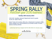 Book Your Ticket Now - Spring Rally January 2016