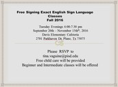 Free Signing Exact English Sign Language