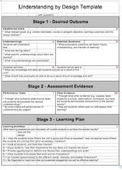 Using the Understanding by Design (UBD) Template