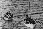 Lifeboats bring the last survivors