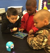 CWES Student working with Dot