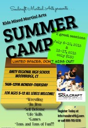 Soulcraft Kids Mixed Martial Arts Summer Camp