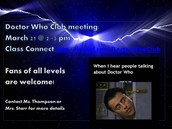 Doctor Who Club meeting!