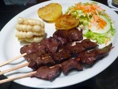 Anticuchos (Beef heart shish-kebab)