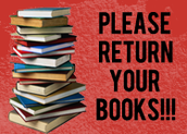 Bring your library books on May 3!