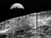 First view of Earth from the Moon