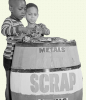 Kids Helping to Collect Metal for War efforts