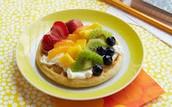 Gofres y Frutas