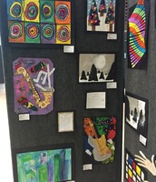 Our students artwork on display at FISD Admin.