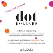 Dot Dollars Redemption Starts TOMORROW!
