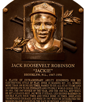 Jackie Robinson was the first African American to be inducted in the baseball hall of fame.