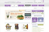 shop tab on your account page in mydoterra.com