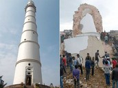 Nepal's famous Dharahara tower destroyed.
