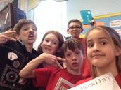National Book Celebration Selfie 5th grade