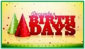 December Brithdays!