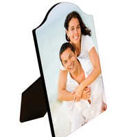 Arch top photo panel with easel