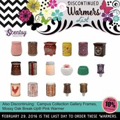 Warmers Discontinued end of February