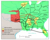 Cherokee Removal Routes