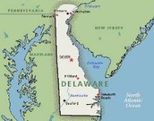 Map of Delaware colony