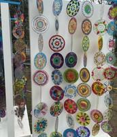Year 6 Mandala Art being displayed in Victoria Park.