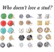 Studs are always loved...From £15