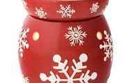 SOLD- Red Snowflake Warmer