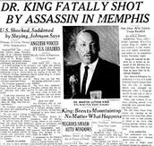 MLK In the newspaper after being assassinated