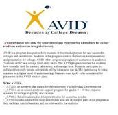 Avid's Mission