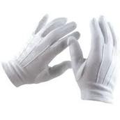 los guantes blanco