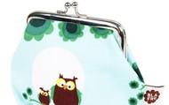 Retro owl clip purse