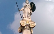 Sculpture of the Greek Goddess Athena