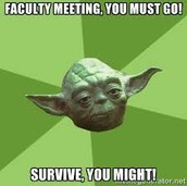 First Faculty Meeting