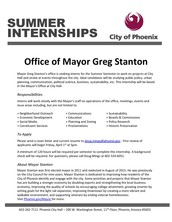 Summer Internship: Office of Mayor Greg Stanton