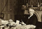 Mark Twain at work