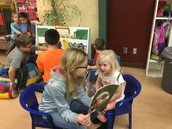 Reading with our preschool friends