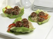 Recipe! Asian Meatball Lettuce Wraps