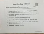 Base-10 Bag Addition