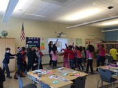Ms. Ahern held a classroom dance party with her 4th graders!