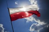 La bandera de Polonia