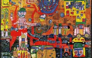 There are lots and lots of interesting shapes and objects in this painting.