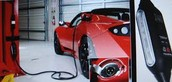 Red Electric Vehicle