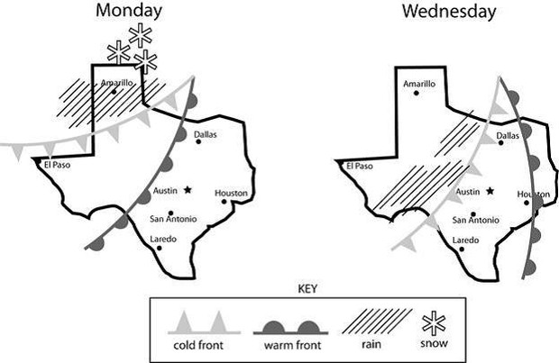 Weather Map In Texas