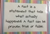 A fact is