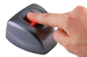 Biometric scanners.