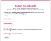 Form to reset DURING Rocket Time!