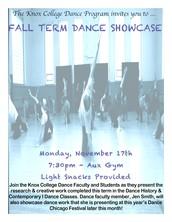 Knox College Dance Department: Fall Term Dance Showcase