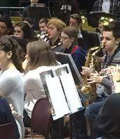 Samantha Henning playing the mean saxophone.
