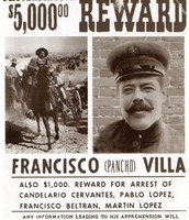 wanted sign for Francisco (Pancho) Villa