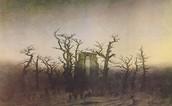 Abbey in an Oak Forest, by Caspar David Friedrich, 1810